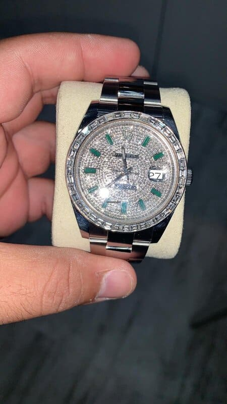 Reloj Rolex Datejust 41 DIAMNOND PAVE WITH EMERALD Elekton Watches