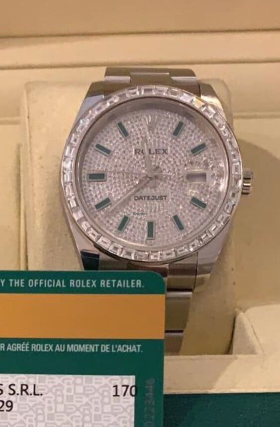 Reloj Rolex Datejust 41 DIAMNOND PAVE WITH EMERALD