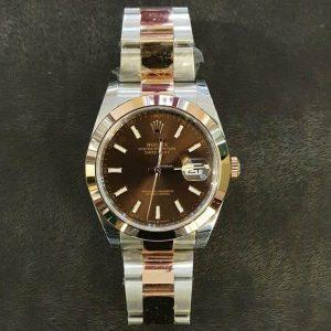 Reloj Rolex Datejust choco dial Elekton Watches