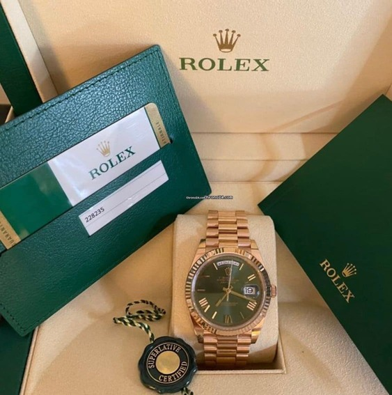 Reloj Rolex Day-Date 40 NEW GREEN DIAL Elekton Watches