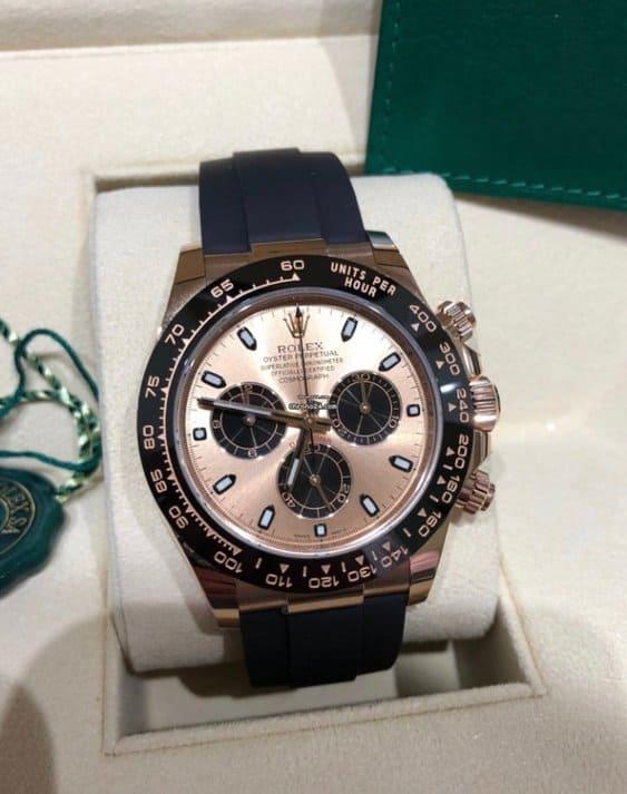 Reloj Rolex Daytona Rose Dial Oysterflex