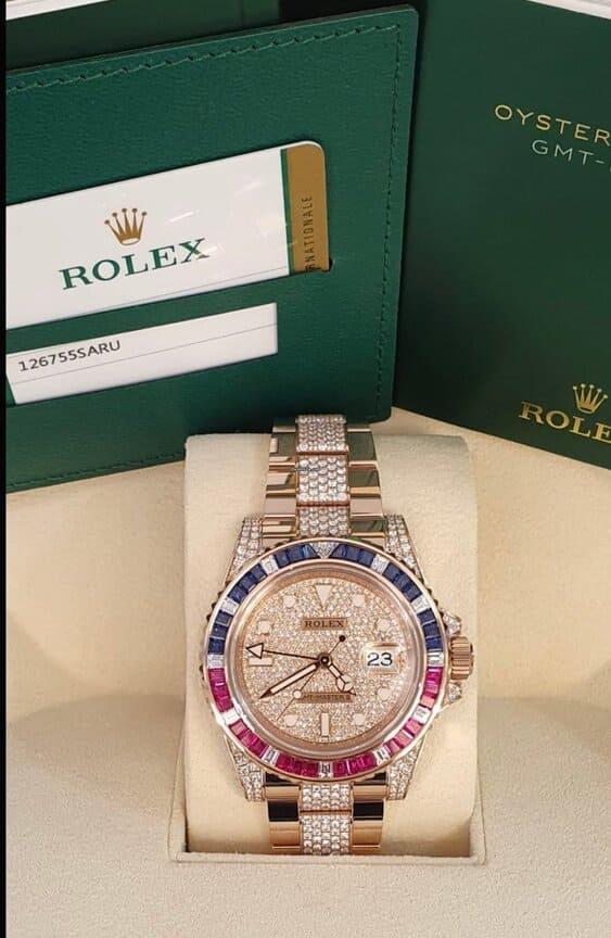Reloj Rolex GMT-Master II Saru Diamonds Pave en Elekton Watches
