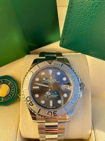 Reloj Rolex Yacht-Master 37 Rhodium Dial