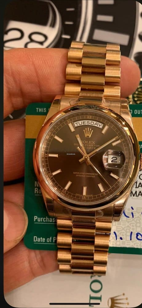 Rolex Day-Date 36 EVEROSE CHOCO Elekton Watches