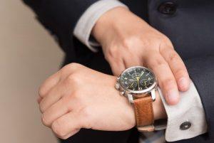 reserva de marcha en un reloj